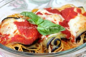Involtini melanzane spaghetti e scamorza