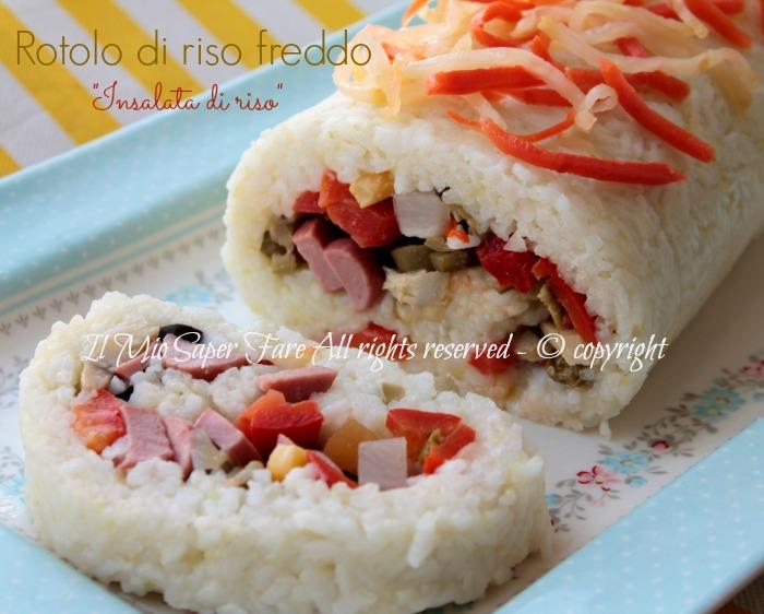 Top Rotolo di riso freddo insalata di riso ricetta estiva HA55