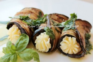 Cannoli di melanzane ripieni ricetta leggera