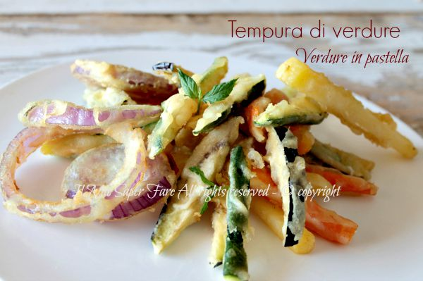 tempura di verdure ricetta