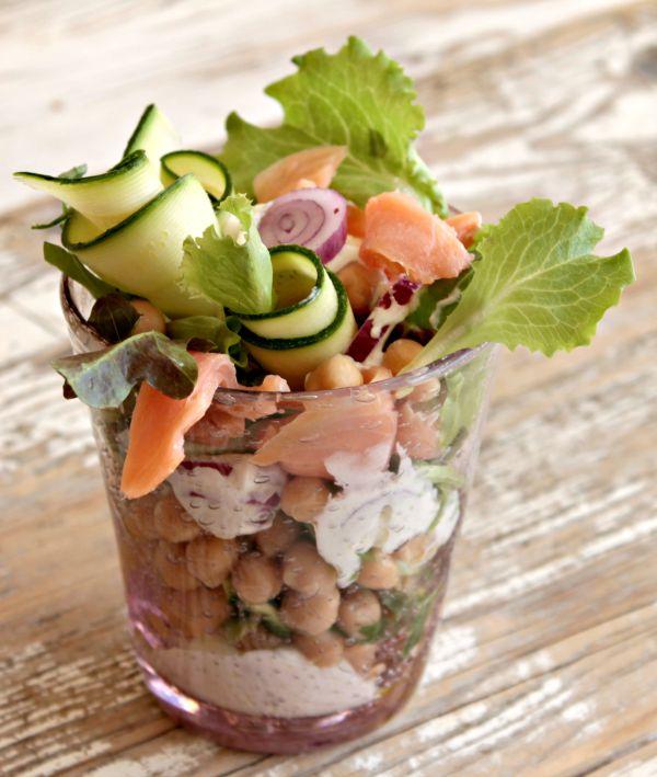 Insalata salmone zucchine e ceci ricetta il mio saper fare