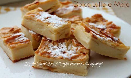 Dolce latte e mele | Torta di mele senza lievito