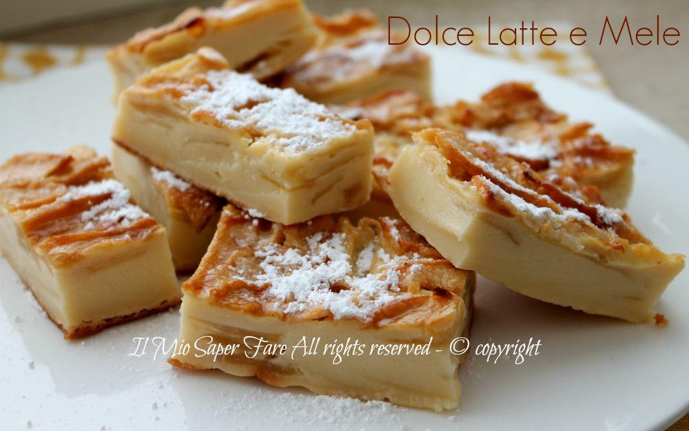 Dolce latte e mele torta di mele senza lievito for Ricette dolci