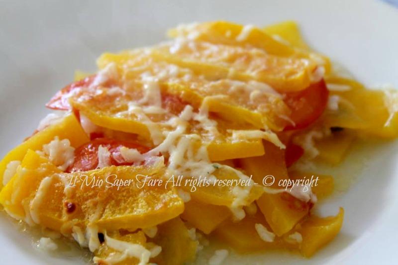 Riso zucca al forno | Ricetta con zucca gialla