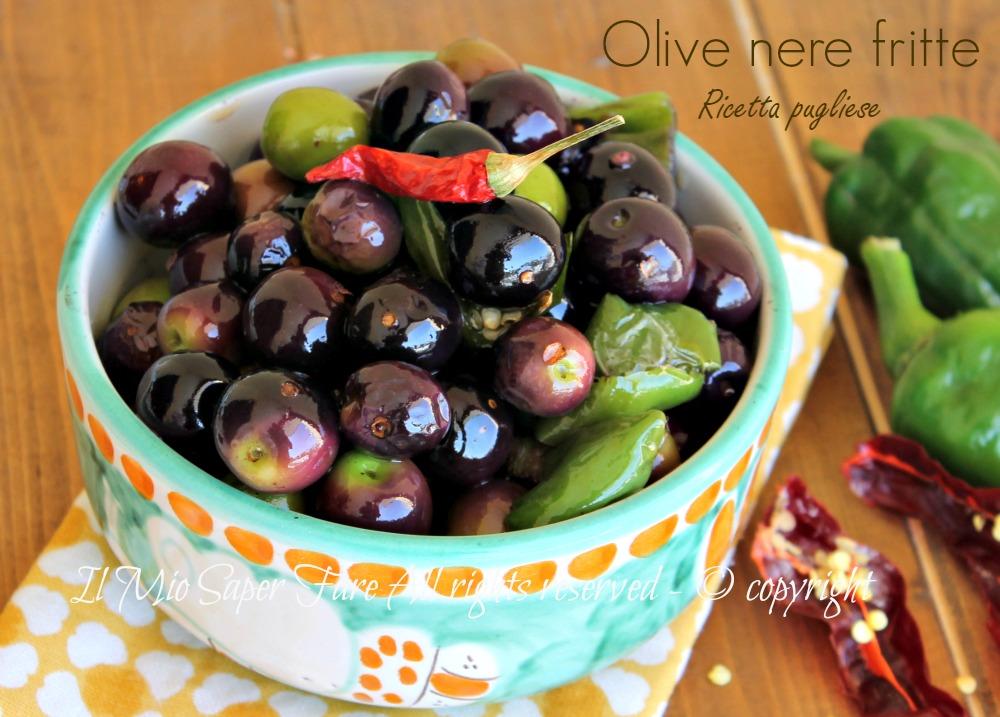 Olive dolci fritte ricetta pugliese con e senza pomodorini il mio saper fare