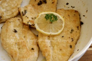 Scaloppine pollo al limone
