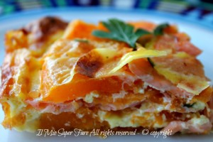 Sformato salmone e zucca antipasto natalizio