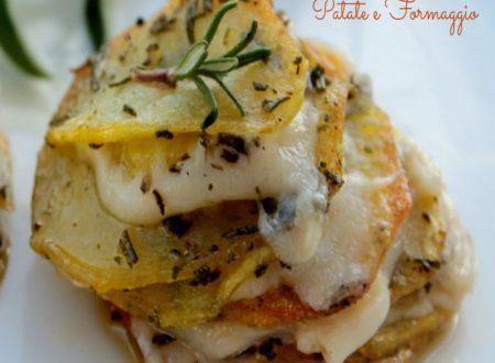 Millefoglie patate e formaggio
