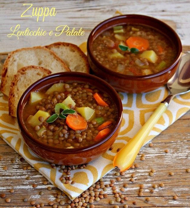 Zuppa lenticchie e patate ricetta il mio saper fare