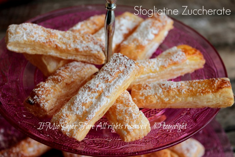 Sfogliatine zuccherate veloci e golose ricetta con pasta sfoglia