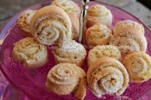 Girelle castagnole al limone cotte in forno