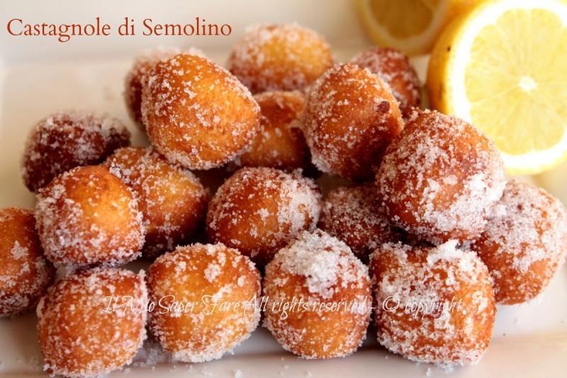 Castagnole semolino dolci fritti di Carnevale