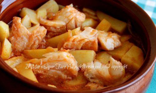 Baccalà e patate in umido – ricetta con baccalà