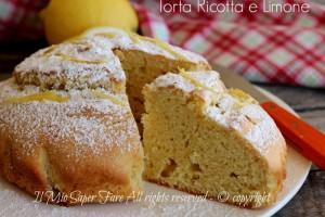 Torta ricotta e limone soffice ricetta dolce senza burro