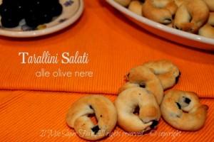 Taralli alle olive nere ricetta facile senza bollitura