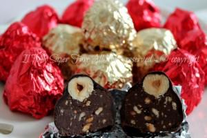 Cioccolatini baci fatti in casa ricetta facile
