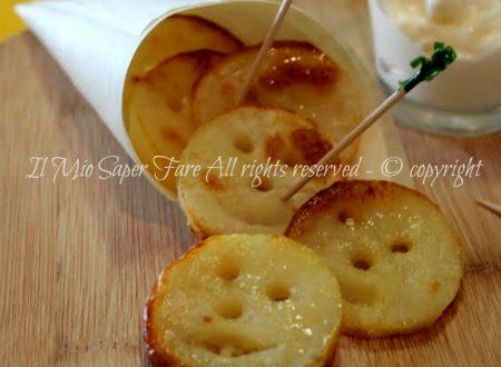 Faccine patate al forno Patatine smile