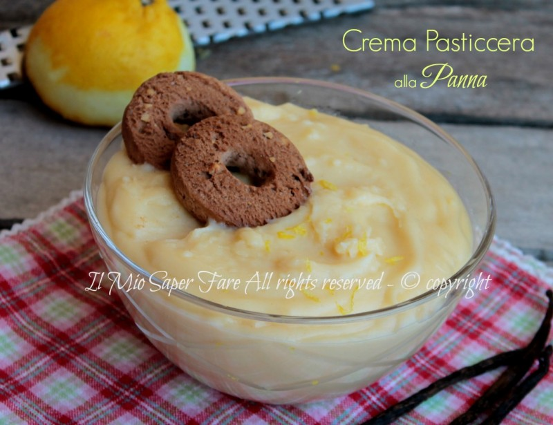 Crema pasticcera alla panna con uova intere vellutata e golosa