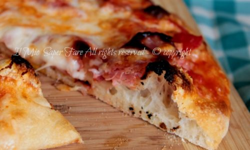 Pizza come in pizzeria impasto autolisi