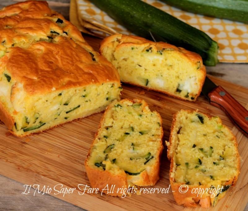 Plumcake zucchine e formaggio ricetta Il Mio Saper Fare