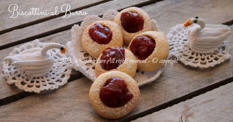 Biscottini al burro con marmellata ricetta Giallo Zafferano