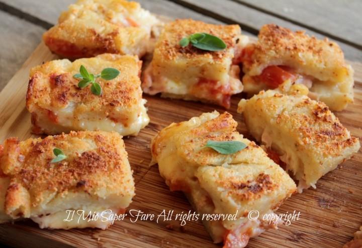 Schiacciata di patate ripiena al forno ricetta il mio saper fare