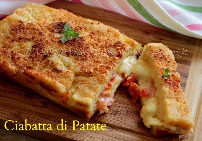 Ciabatta di patate  ricetta facile con patate