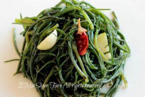 Ricette con agretti : Agretti in padella olio aglio peperoncino