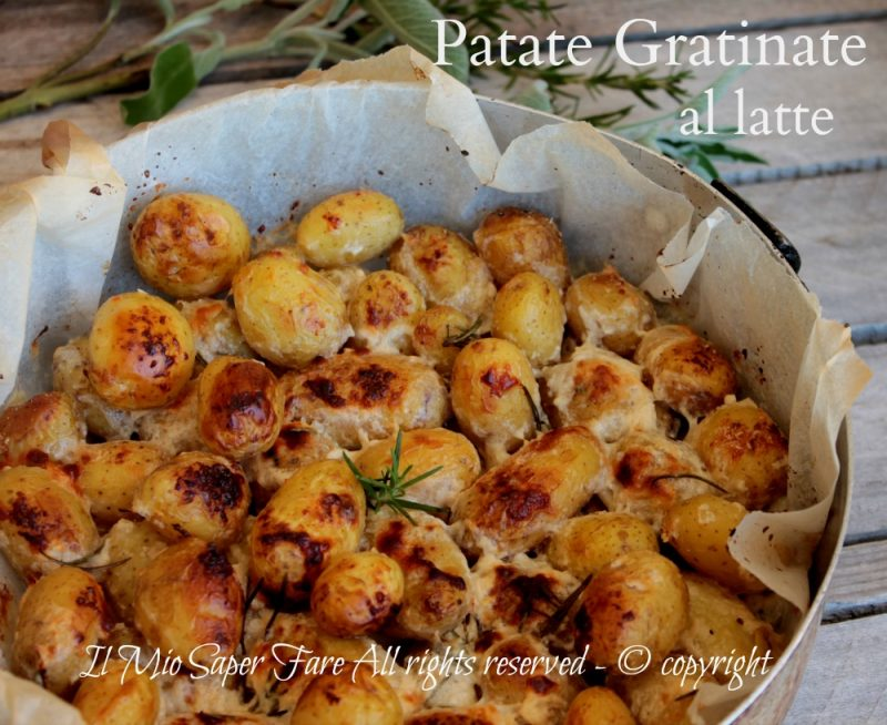 Patate al latte gratinate dorate e croccanti