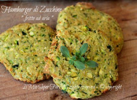Frittura ad aria senza olio : hamburger di zucchine