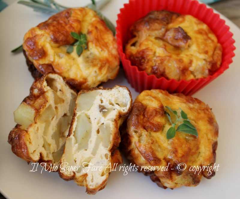 Frittatine patate rosticceria | Frittata con patate