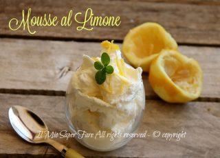 Mousse al limone senza uova ricetta il mio saper fare