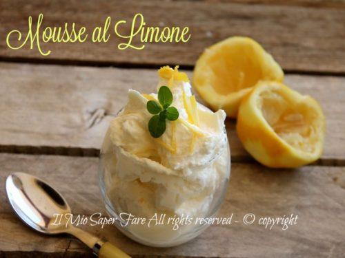 Mousse al limone senza uova ricetta facile