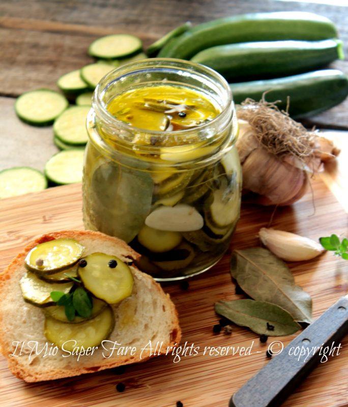 Zucchine in agrodolce  conservare le zucchine