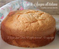 Pan di Spagna senza lievito all'italiana ricetta il mio saper fare