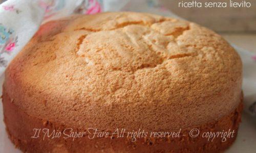 Pan di Spagna senza lievito all'italiana