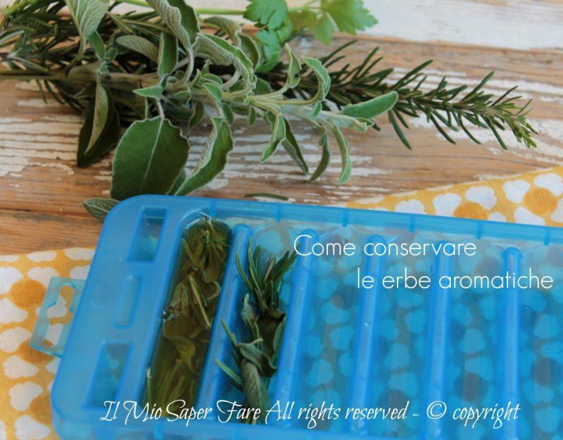 Come conservare le erbe aromatiche