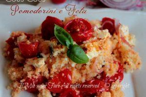 Insalata cous cous pomodorini e feta