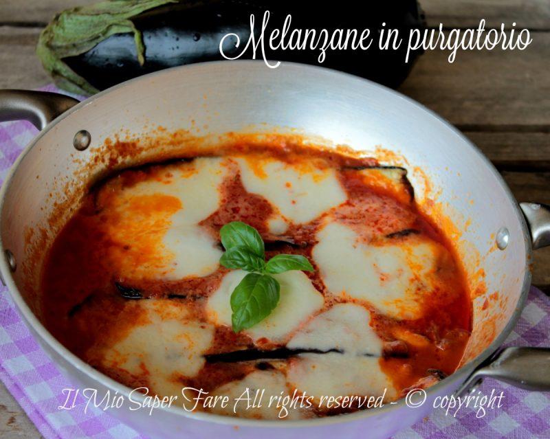 Melanzane in purgatorio con sugo e mozzarella