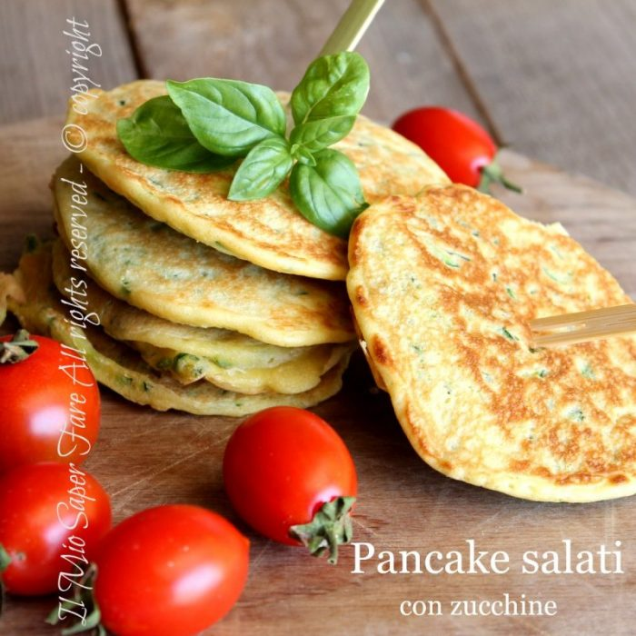 Pancake con zucchine ricetta pancake salati