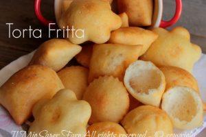 Torta fritta gnocco fritto di patate