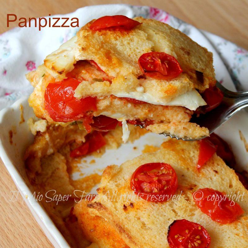Pizza di pane ricetta panpizza con pane raffermo e pomodorini for Ricette on line