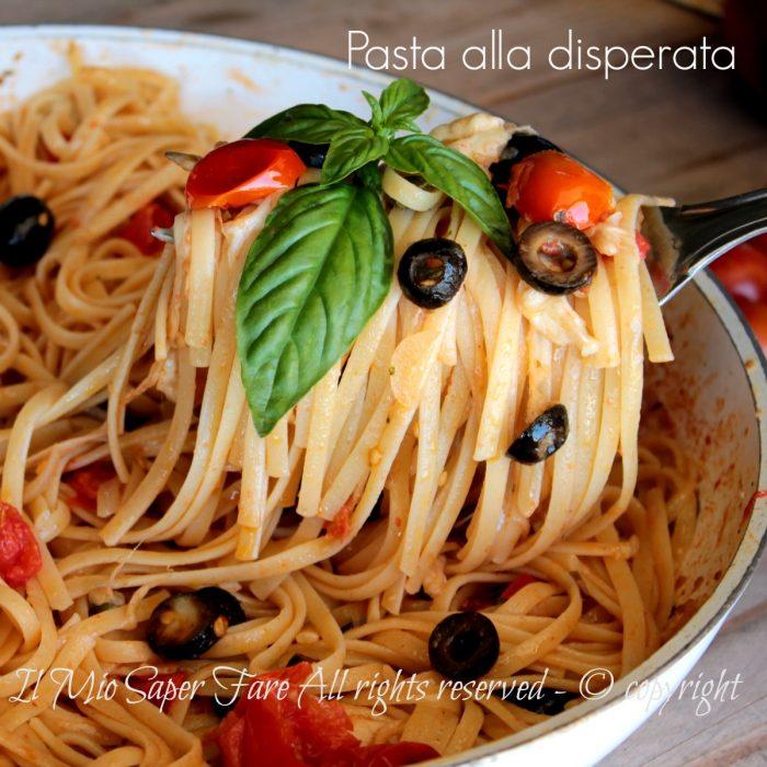 Pasta alla disperata ricetta primo piatto veloce e gustoso for Primo piatto veloce