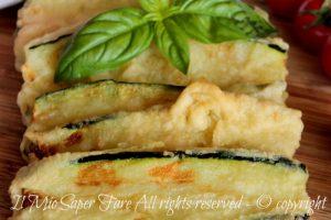 Zucchine pastellate da congelare per parmigiane e involtini