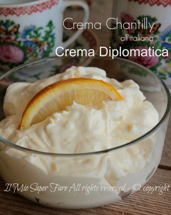 Crema diplomatica o crema chantilly all'italiana