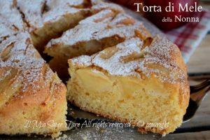 Torta di mele facile ricetta della nonna soffice e golosa