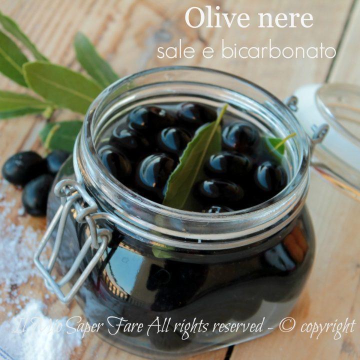 Come conservare le olive nere con bicarbonato e sale il mio saper fare