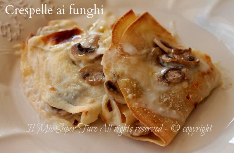 Ricetta crepes salate con funghi