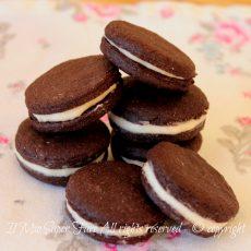 Biscotti Oreo fatti in casa ricetta facile | Pasta frolla al cacao il mio saper fare