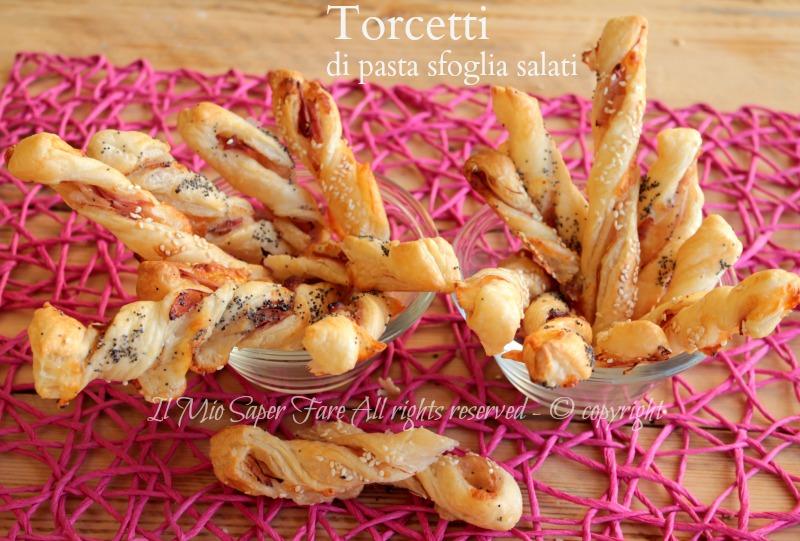 Torcetti di pasta sfoglia salati idee per antipasti e buffet